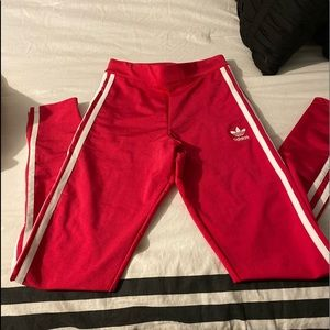 Adidas Red leggings NWT